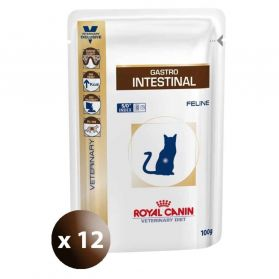 Royal Canin - Sachets Veterinary Diet Gastro Intestinal pour Chat - 12x100g
