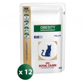 Royal Canin - Sachets Veterinary Diet Obesity Management pour Chat - 12x100g