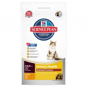 Hill's Science Plan - Croquettes Urinary & Hairball au Poulet pour Chat - 3Kg
