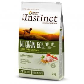 True Instinct - Croquettes No Grain Adult Medium Maxi au Poulet pour Chien - 12Kg