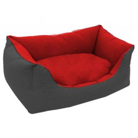 Greyscale - Sofa Home forme Rectangle en Gris et Rouge - Taille 3