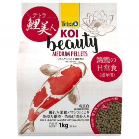 Tetra - Aliment en Boulettes Koi Beauty Medium Pellets pour Carpe Koï - 4L