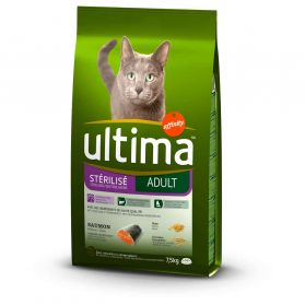 Croquettes Ultima - Ultima Chat Steril Saum 7.5Kg