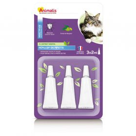 Animalis - Répulsif Insectifuge en Pipette pour Grand Chat - 3x2ml