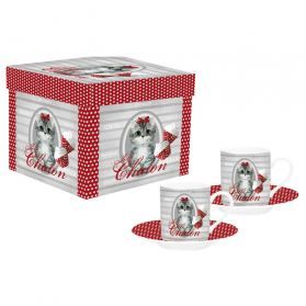Lot de Tasses Twist Chaton - x2