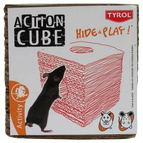 Tyrol - Tunnel Cube Hide & Play en Carton pour Rongeur