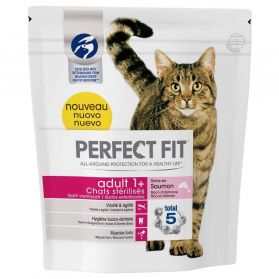 Perfect Fit - Croquettes Adult 1+ au Saumon pour Chat Stérilisé - 1,4Kg