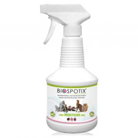 Biospotix - Spray antiparasitaire Naturel pour Chat - 500ml