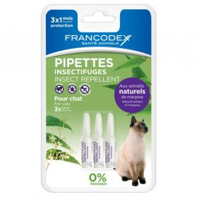 Francodex - Pipettes Insectifuges pour Chat - 3x0,6ml