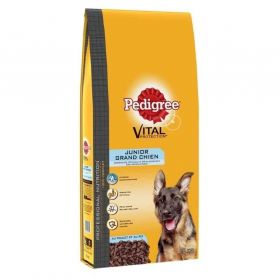 Pedigree - Croquettes Vital Protection Junior au Poulet pour Chiot de Grande Race - 15Kg