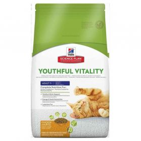 Hill's Science Plan - Croquettes Youthful Vitality 7+ au Poulet et Riz pour Chat Adulte - 6Kg