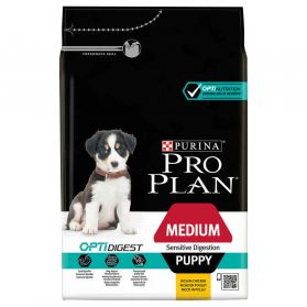 Pro Plan - Croquettes OPTIDIGEST Medium Sensitive Digestion Poulet pour Chiot