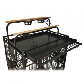 Montana - Cage Hacienda Play pour Perroquets - Anthracite