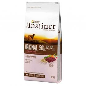 True Instinct - Croquettes Original Adult Medium Maxi à l'Agneau pour Chien - 12Kg