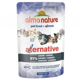 Almo Nature - Pochon Alternative Bouillon à la Sardine pour Chat - 55g