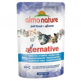 Almo Nature - Pochon Alternative Bouillon au Thon de l'Atlantique pour Chat - 55g
