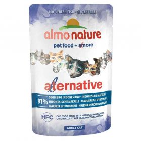Almo Nature - Pochon Alternative Bouillon de Maquereau d'Indonésie pour Chat - 55g