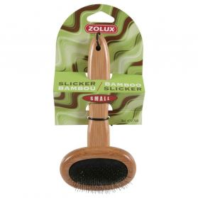 Zolux - Brosse Slicker Bambou pour Chiens - S