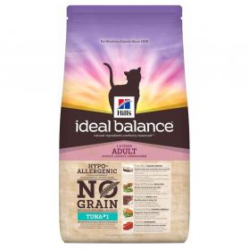 Hill's - Croquettes Ideal Balance No Grain au Thon pour Chats - 1,5Kg