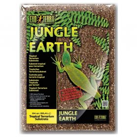 Exo Terra - Substrat Tropical Jungle Earth pour Terrarium - 26,4L