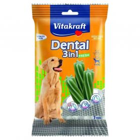 Vitakraft - Friandises Dental 3in1 Fresh pour Grands Chiens - 180g