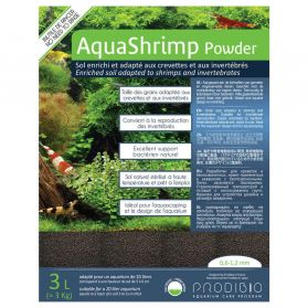 Prodibio - Sol Naturel AquaShrimp Powder pour Aquarium - 3L