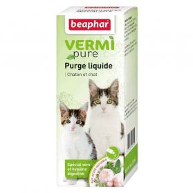 Beaphar - Solution Liquide Digestive Vermi Pure pour Chat - 50ml