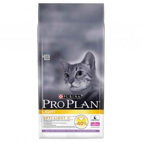 Pro Plan - Croquettes Light à la Dinde pour Chat Adulte - 10Kg
