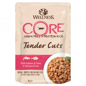 Wellness CORE - Repas Tenders Cuts au Thon pour Chat - 85g