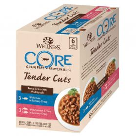 Wellness CORE - Multipack Tenders Cuts au Thon pour Chat - 510g
