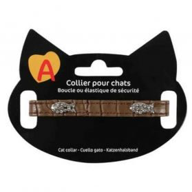 Animalis - Collier Fantaisie Poisson pour Chat - Marron