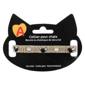 Animalis - Collier Original pour Chat - Beige
