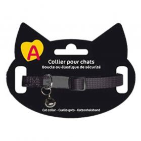 Animalis - Collier Basic pour Chat - Noir