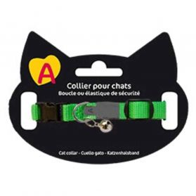 Animalis - Collier Basic pour Chat - Vert