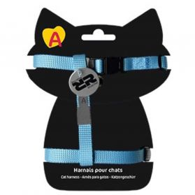 Animalis - Harnais Basic pour Chat - Bleu
