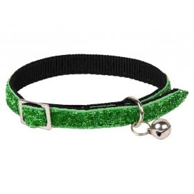 Animalis - Collier Paillette pour Chat - Vert