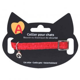 Animalis - Collier Pois pour Chat - Rouge