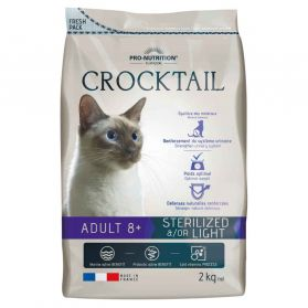 Flatazor - Croquettes CROCKTAIL 8+ Sterilized Light pour Chat - 2Kg