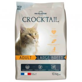 Flatazor - Croquettes CROCKTAIL Adult Large Breed pour Chat - 10Kg