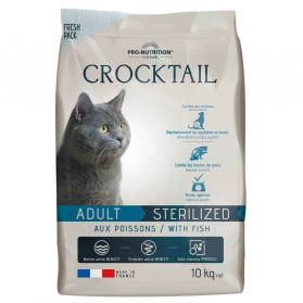 Flatazor - Croquettes CROCKTAIL Sterilized au Poisson pour Chat - 10Kg
