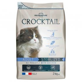 Flatazor - Croquettes CROCKTAIL Sterilized au Poulet pour Chat - 2Kg