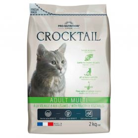 Flatazor - Croquettes CROCKTAIL Adult Multi pour Chat - 2Kg