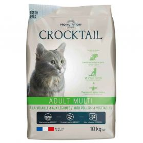 Flatazor - Croquettes CROCKTAIL Adult Multi pour Chat - 10Kg