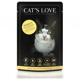 Cat's Love - Menu 100% Naturel au Poulet pour Chats - 85g