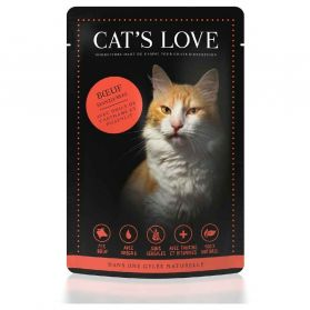 Cat's Love - Menu 100% Naturel à la Bœuf pour Chats - 85g
