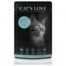 Cat's Love - Menu 100% Naturel au Saumon pour Chats - 85g