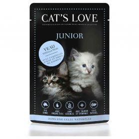 Cat's Love - Menu 100% Naturel JUNIOR au Veau pour Chatons - 85g