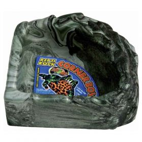 Zoomed - Gamelle Angle Repti Rock Corner Bowl pour Reptiles - S