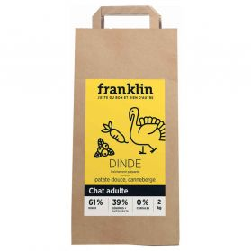 Franklin - Croquettes Dinde Patate Douce Canneberge pour Chat - 2Kg