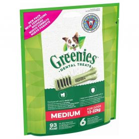 Greenies - Friandises Sticks Dentaires MEDIUM pour Chien Moyen - x6